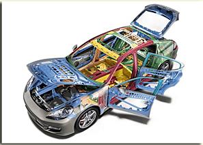 Beaucoup de pièce sont en plastiques dans le sport auto.