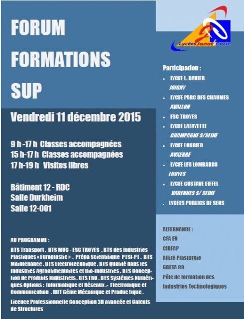 forum formation sup 11-12-2015